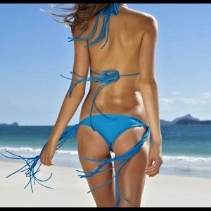 MIKOH Kirra long string skinny tie bottoms! SMALL